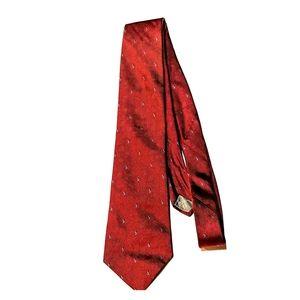 Red Christan Dior silk tie